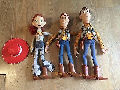 Faulty/Spares Toy Story Bundle 'Pull String Woody' & Jessie For Repair
