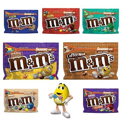 M&M's, American Sweet Chocolate, Various Flavours, USA import