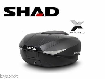 Top Box SHAD SH58X topcase extensible 46L to 58L carbon scooter motorcycle NEW