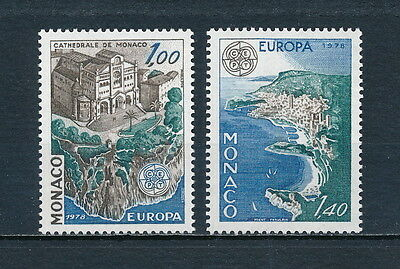 Monaco #1113-14  MNH, 1978 Europa, Monaco Cathedral and Aerial View