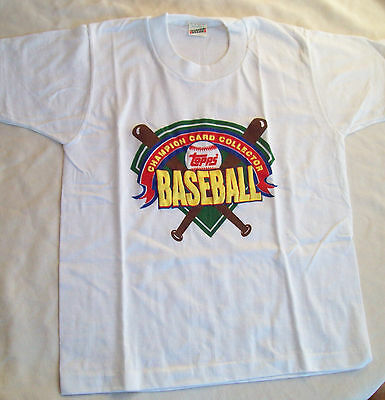 Topp's Baseball Champion Card Collector T-Shirt --Childs Size 10-12