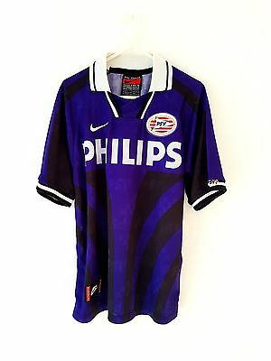 PSV Eindhoven Away Shirt 1996. Small. Nike. Purple Adults S Football Top Only.