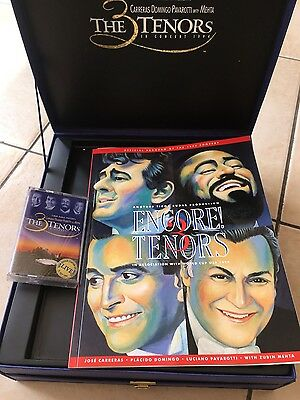 immaculate box set of 3 tenors  1994 programme vid and cassettes in lovely box