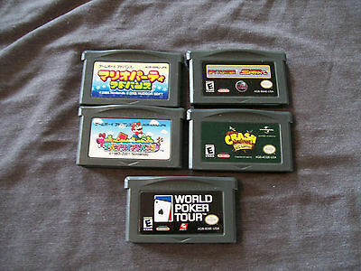 Game Boy Advance Lot (5 games including Mario and Crash)