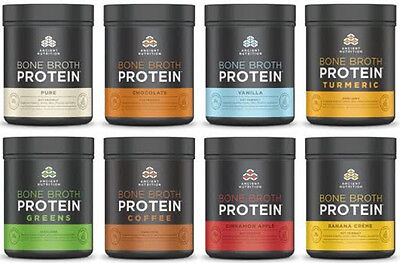 Ancient Nutrition Bone Broth Protein, 17.8oz-Assortment of Flavors-Value Packs