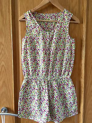 Next Girls Floral Playsuit Age 14 Worn Once