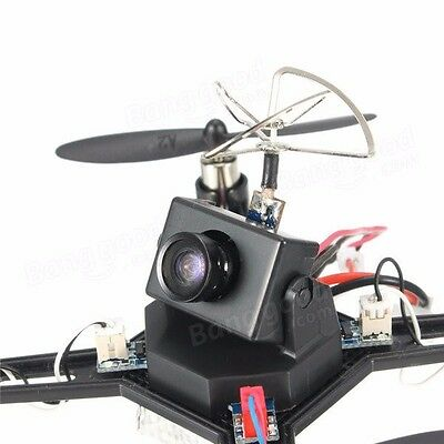 Black micro Drone DM002 5.8G FPV w/600TVL Camera 2.4G 4CH 6Axis RC Quad RTF