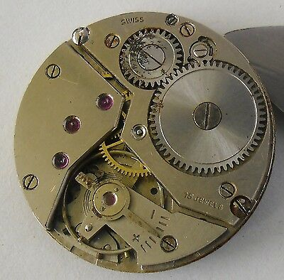 Unitas 6310 Movement Good Balance for Repair or Parts Unitas 6310 Movimiento