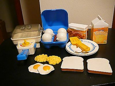 Fisher-Price Fun With Food Super Skillet Breakfast Set #2115 complete set