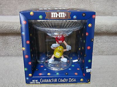 M&M's Crystallized Acrylic Character Candy Dish New in Box