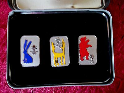 Olympic Winter Games Salt Lake 2002 3 Pin Set And Collectible Tin