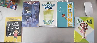 Judy Blume and Various Lot of 5 paperback childrens books.