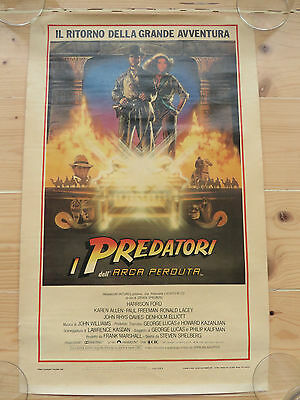 Original Raiders of the Lost Ark movie poster, Italian, 1981, 335x535mm, rolled