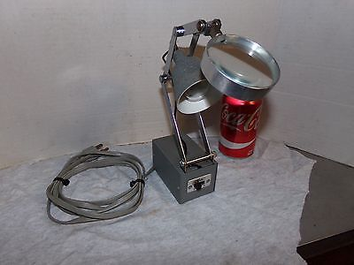 Vintage Roxter Machinist, Jeweler, Watchmaker Articulating Lamp W/ Magnifier