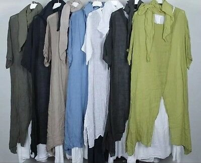 Wholesale joblot Ladies split front italian lagenlook boho long dress 4 pcs mix
