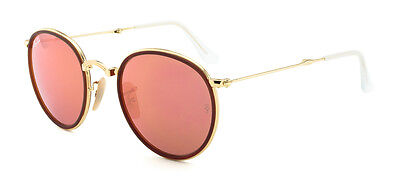 Ray-Ban RB3517 001/Z2 Round Folding Gold / Pink Mirror 51mm Lens Sunglasses