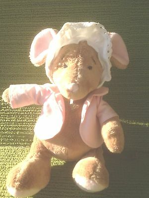 """Harrods Hedgerow Dressed Mouse -10 """" Plush Soft Toy - Lovely Condition"""