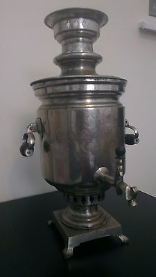 Antique Vintage Russian IMPERIAL TULA MANUFACTURE Brass Samovar 14 + 6 medals 19