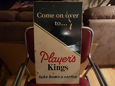 "Early Players Cigarette Metal Sign Very Nice condition - 24"" X 13"""