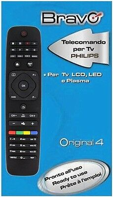 B0631838 Telecomando Bravo Original 4 Per Tv Philips