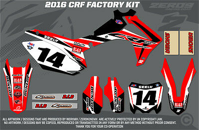 Honda Crf250 2010 / Crf450 2009-2010  Mx Graphics Factory Full Kit Black