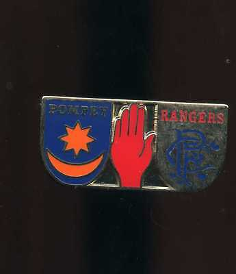 Glasgow Rangers Gers and Pompey Portsmouth  Pin badge