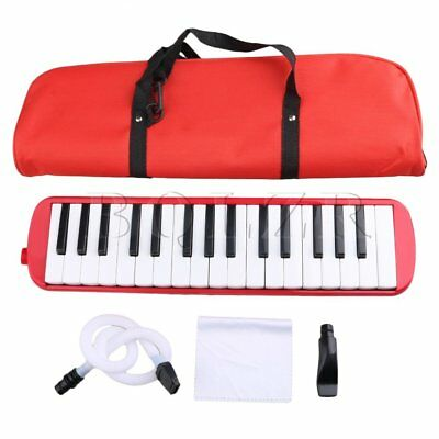 Red BQLZR 32 Piano Keys Melodica Pianica W/ Carrying Bag for Students
