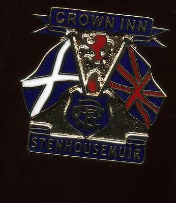Glasgow Rangers Gers Crown Inn Stenhousemuir  Supporters Club Pin Badge