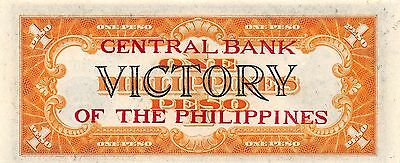 Philippines  1 Peso  ND. 1949  P 117b  Victory Series   Uncirculated Banknote