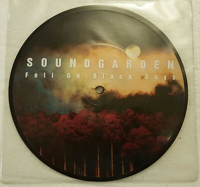 "Soundgarden PICTURE DISC Fell on Black Days UK A&M 7"" PVC PC unplayed EX/NM"