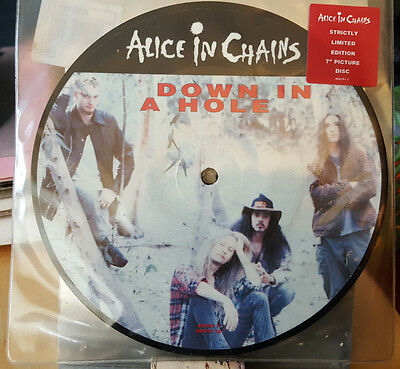 Alice In Chains PICTURE DISC ‎Down In A Hole UK 1993 Columbia 6597517 Ex