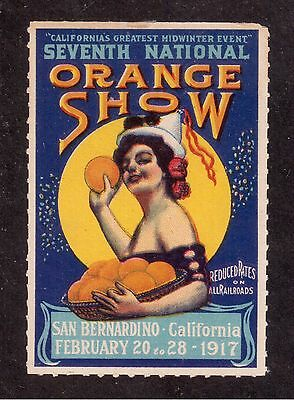 1917 Poster Stamp, 7th National California Orange Show