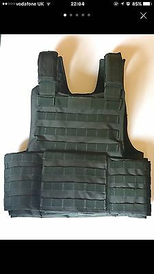 Mil-Tec Military Combat Padded Molle Vest Plate Carrier Tactical Army Olive