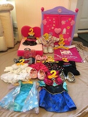 Build a Bear Wardrobe Clothes and Accessories Bundle