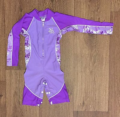 Tuga 12-18 Months Sun Safe 50+ UPF Swimsuit Wetsuit Lilac Purple