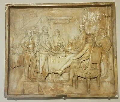 Plaster cast relief of the Signing of the Declaration of Independence