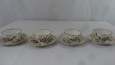 Set of 4 German Dresden Demitasse Cups/Saucers Alf/Konstan plus 3 saucers