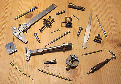 Job Lot of Vintage Watch & Lathe Tools