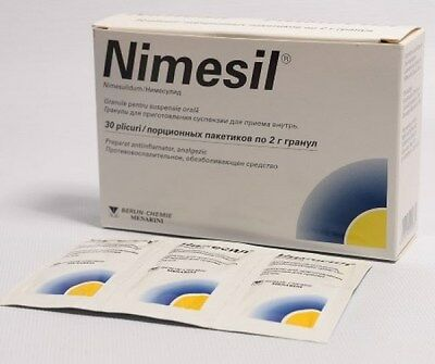 NIMESIL 2g x 10 Sachets. Pain relief, Headache.Analgesic&Antipyretic