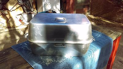 Wear-Ever 2626 Vintage Aluminum Roaster Pan W/ Vented Lid & Tray