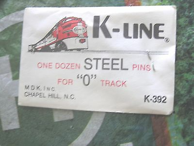 "K-Line Train Track  Steel Pins One Dozen For  ""o"" Track   K-392 Nos     0"