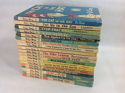 Lot Of 19 Vintage Beginner Books - Early Book Club Editons Dr Seuss