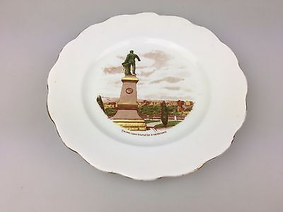ROYAL STANDARD - BONE CHINA PLATE - 16cm - COLONEL LIGHT STATUE - STH AUSTRALIA