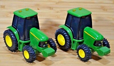 Ertl JOHN DEERE SFX Lights and Sound Effects TOY Tractors (Set of 2)