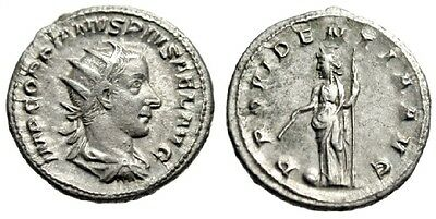 Roman Antoninianus of Gordian III, RIC 26b (247 AD), Sharp Portrait!