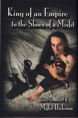 Myke Hideous Former Misfits Singer Autobiography PB OOP King Of An Empire Shoes