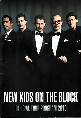 New Kids On The Block 2013 Tour Concert Program Book / Vg 2 Nmt