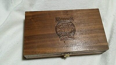 Antique Record Tools Wooden Box