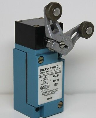 Micro Switch # LSN1A Heavy Duty Limit Switch, w/Rocker Arm Lever, Nice Shape