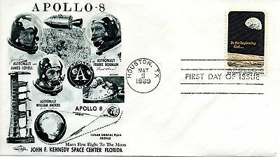 US FDC #1371 Apollo 8, Orbit Covers (4432)